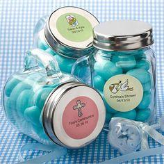 cute little filled mason jars for favors