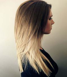 Honey Golden Brown to a Gorgeous Vivid Blonde Ombre Hair