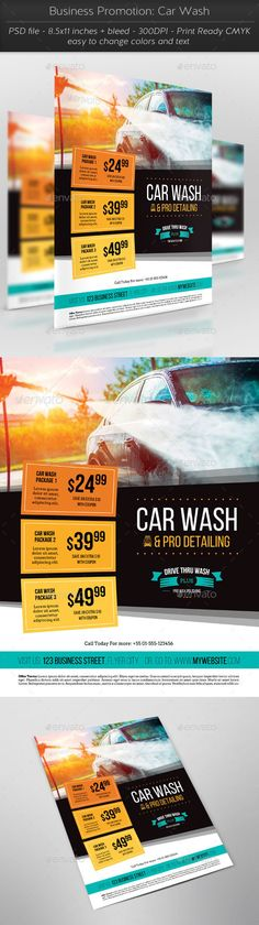 Business Promotion: Car Wash — Photoshop PSD #black #wash • Available here → https://graphicriver.net/item/business-promotion-car-wash/11448967?ref=pxcr