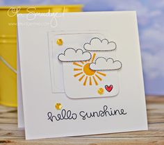 Lawn Fawn - Hello Sunshine, #Awesome + coordinating dies, Let's Polka Mixed Sequins _ Happy design by Melissa at Oh, Smudge!: Exciting News!