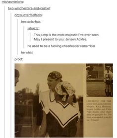 Gentle Reminder That Jensen Ackles Used To Be A Cheerleader » proof, like math or something, lol