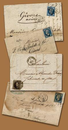 old letters in french love. Vintage Lettering, Hand Lettering, Envelope Carta, Post Bus, Pen & Paper, Art Postal, Old Letters, Letters Mail, Going Postal