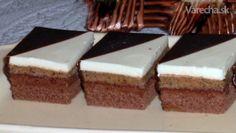 Dvojfarebné orechové kocky - Recept Czech Recipes, Baking Recipes, Rum, Treats, Cake, Sweet, Cooking Recipes, Sweet Like Candy, Pastel