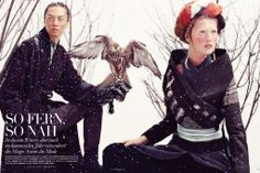 DAMIR DOMA Men's Autumn Winter 2012-13 woolen coat featured in the December issue of VOGUE Germany.