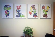 Cool office wall art!