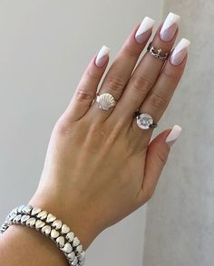 Want some ideas for wedding nail polish designs? This article is a collection of our favorite nail polish designs for your special day. Long Nail Designs, Simple Nail Designs, Wedding Nail Polish, Wedding Nails, Acrylic Nail Shapes, Acrylic Nails, Diagonal Nails, Natural Nail Art, Nail Ring