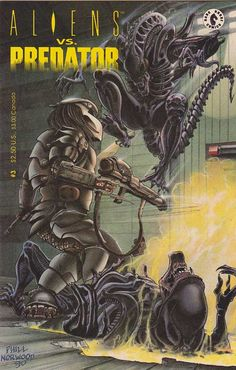 The first #Aliens versus #Predator centers on Ryushi, a recently-colonized planet, and Machiko Noguchi, the Chigusa Corporation's administrator there. The settlers on Ryushi raise cattle-like quadrupedal ungulates called rhynth for export to other solar systems, and at the time of the story are in the process of assembling a shipment of the native livestock.