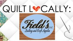 We'd like to welcome Field's Quilting and Craft Supplies in Gloucester, Virginia, today to our blog! The shop is owned by Robin Field.