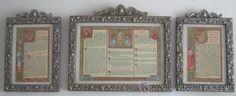 JUEGO DE SACRAS DE 1940 (Arte - Arte Religioso - Trípticos)
