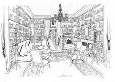 Aurora Altisent Drawings: Salons de Barcelona via magdalena long