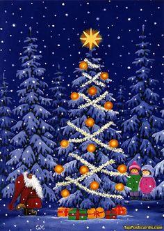 Eva Melhuish, Santa & Children with Christmas Tree Christmas Clipart, Vintage Christmas Cards, Xmas Cards, Christmas Greetings, Holiday Cards, Christmas Gnome, Christmas Past, Winter Christmas, Christmas Crafts