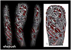 Biomechanical tattoo sleeve Tattoo flash   tattoos picture biomechanical tattoos