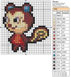 Pecan Animal Crossing Perler Bead Pattern
