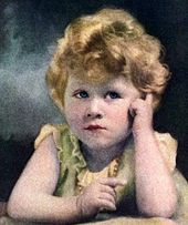 La future Elizabeth II à l'âge de 3 ans en 1929.