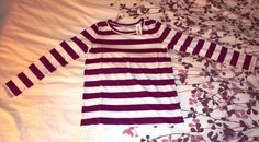 Old Navy Striped Long Sleeve Top - Girls L (10-12) Age:9-11 #OldNavy #Everyday