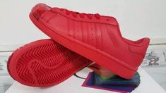 Mens Adidas Superstar 80s With Metal Toe Chinese Red