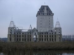 Abandoned Castle Project near Almere in the Netherlands has Become a Modern Ruin