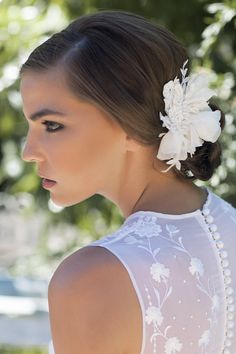 VALENTINA Bridal Headpiece Flower Headpiece by percyhandmade