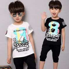 $8.46 (Buy here: https://alitems.com/g/1e8d114494ebda23ff8b16525dc3e8/?i=5&ulp=https%3A%2F%2Fwww.aliexpress.com%2Fitem%2F2016-Baby-Boys-Summer-Sport-Clothing-Set-Kids-T-Shirts-Shorts-Pants-2-Pcs-Clothes-Tracksuit%2F32695144717.html ) 2016 Baby Boys Summer Sport Clothing Set Kids T Shirts+Shorts Pants 2 Pcs Clothes Tracksuit Sets 3 4 5 6 7 8 Years for just $8.46