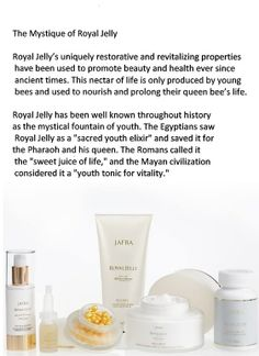 Give your skin what it really deserves, Jafra Royal Jelly. You will be so amazed after the first time you use it.  Go to my website : myjafra.com/debramarchese to place your order, can ship anywhere.  ALSO go to https.//fb.jafra.com/royal-jelly to watch this amazing video. YOU DESERVE THE BEST!!!