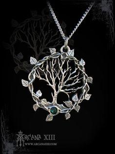 Tree of life pendant, Tree of Gaia, yggdrasil, viking pendant, celtic jewelry, elven necklace, victorian pendant, celtic  pagan