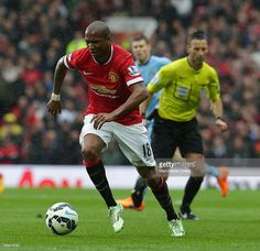 Ashley Young of Manchester United in action during the Barclays Premier League match between...