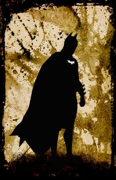 Batman Silhouette Poster // Dark Knight // by DapperDragonArts