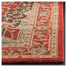 "Hawly Area Rug - Red/Red (6'7""x9'2"") - Safavieh, Natural/Red"