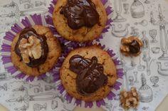 Banana, Walnuts and Chocolate Cupcakes!