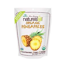 Nature's All Foods Organic Freeze-Dried Pineapple, 1.5-Ounce Packages (Pack of 3) ** Details can be found by clicking on the image from Amazon.com