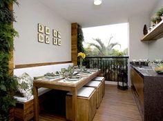Varanda gourmet - !!! Mesa e banco !!!