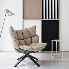 (1) Fancy - Husk Swivel Lounge Chair by B Italia