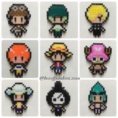 One Piece perler beads by boxofpandora.xoxo