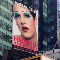 Darren's #HedwigOnBway billboard