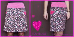 """Free """"Cordula"""" skirt sewing pattern. German  language. Click on """"Cordula"""" in blog for instructions and pattern on Dropbox"""
