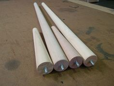 Round Tapered Timber Table Legs Look Great. We Have Them In 2 Different  Heights And In 2 Different Timbers.