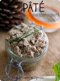 Recette végane facile et rapide de pâté/terrine de champignons bruns de Paris Frais à l'ail