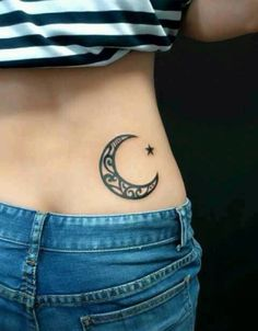 Moon tattoo! #Adorable