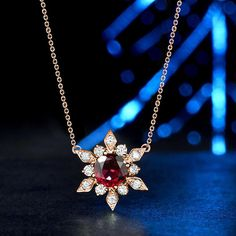 Solid Round Cut Ruby &Diamond Flower Pendant Necklace Rose Gold Over Diamond Cross Necklaces, Diamond Pendant Necklace, Diamond Jewelry, Jewelry Necklaces, Bracelets, Gold Pendant, Diamond Choker, Locket Necklace, Necklace Price