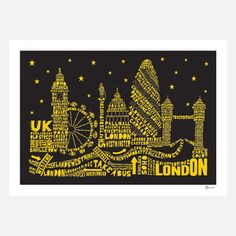 London By Night Print, £31, now featured on Fab.