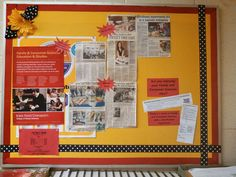 Bulletin board highlighting FCS related career options and job shadow experiences
