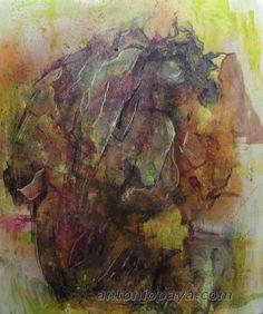 """""""Torso nº1"""" (2009) Alquídico sobre lienzo, 61x50cm. J.A Payá"""