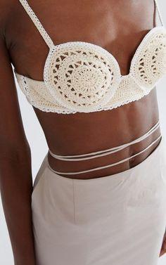 Crochet Crop Top, Crochet Bikini, Knit Crochet, Knitwear Fashion, Crochet Fashion, Magda Butrym, Online Fashion Stores, Crochet Designs, Bra Tops