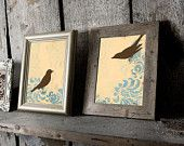 Bird Home Decor, Wall Art Print, Small Set of Two, 5 x 7 inches