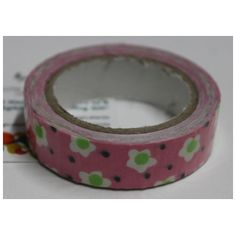 Buy Pink with white and green flower decorative tape/Adhesive fo any use by undefined, on Paytm, Price: Rs.125?utm_medium=pintrest