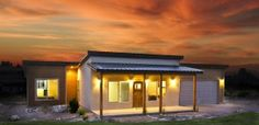 Desert House. Bigger is not always better.  Building the right sized home to fit your needs is smarter, less expensive, simpler and better for the environment.  We focus on smaller, efficiently designed homes over big homes with extra space that rarely gets used. ZipKitHomes.com