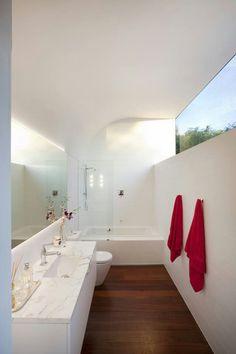 5 Jaw-Dropping Cool Ideas: False Ceiling With Fan false ceiling lights home theaters.False Ceiling Bedroom Tips false ceiling lights home theaters. Minimalist Bathroom Design, Modern White Bathroom, Bathroom Marble, Concrete Bathroom, White Bathrooms, Bathroom Faucets, Minimalist House, Minimalist Design, Kids Interior