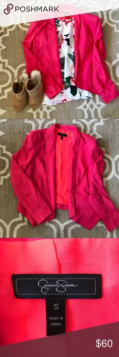 Pink Buttonless Blazer PERFECT for spring! Looks great for brunch, casual Fridays, or drinks at happy hour. Jackets & Coats Blazers