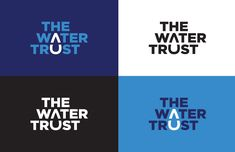 Visual Identity for The Water Trust. Logo Inspiration, Logo Color Combinations, Label Design, Web Design, Trust Logo, Logo Branding, Branding Design, Global Logo, Create Logo Design