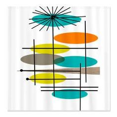 Exceptional Mid Century Eames Inspired Throw Blankets, Duvet Covers, Pillows, IPhone  Cases And More. Curtain Designs ...